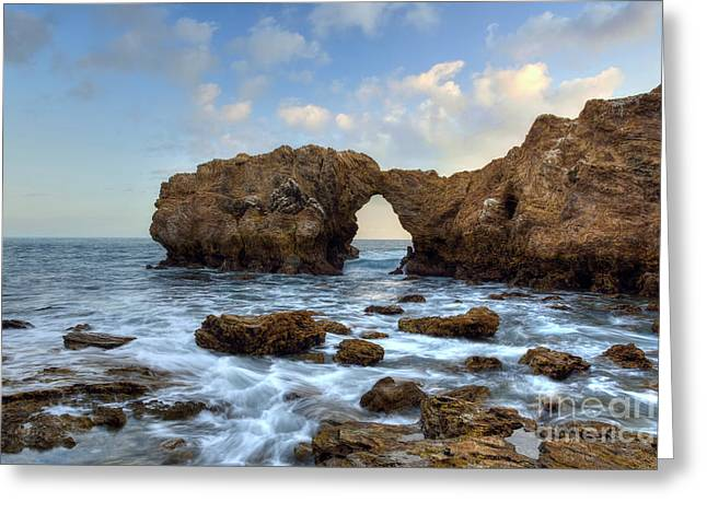 Ocean Landscape Greeting Cards - Cliff Island Greeting Card by Eddie Yerkish