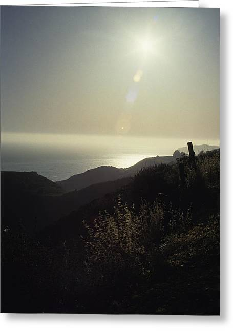 Big Sur Greeting Cards - Cliff Lined Coastline Of Central Greeting Card by Stacy Gold