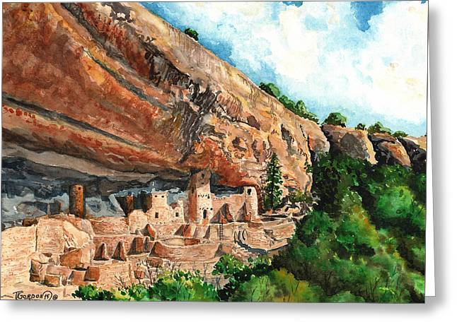 Cliff Palace Mesa Verde Greeting Card by Timithy L Gordon