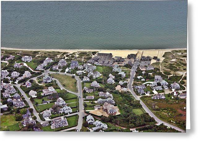 Nantucket Sound Greeting Cards - Cliff Road Overlooking Nantucket Sound Greeting Card by Duncan Pearson