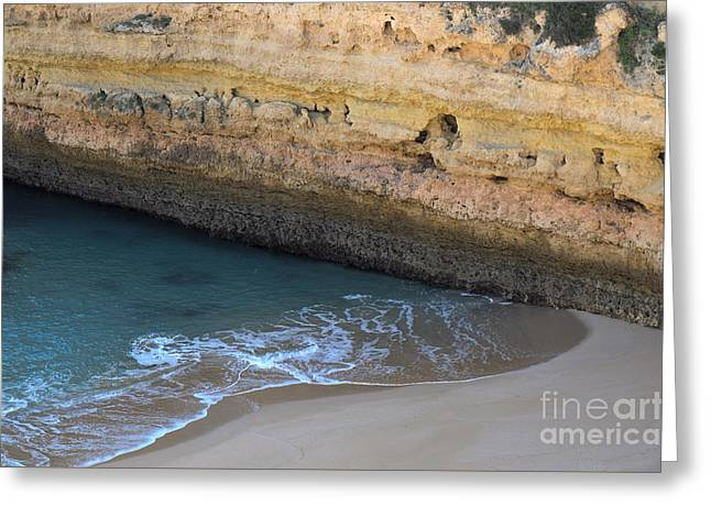Cliff View In Fontainhas Beach 2 Greeting Card by Angelo DeVal