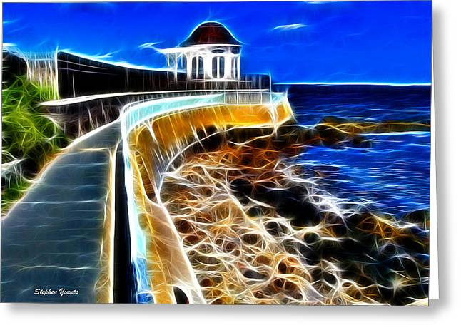 Cliffs Digital Art Greeting Cards - Cliff Walk Greeting Card by Stephen Younts