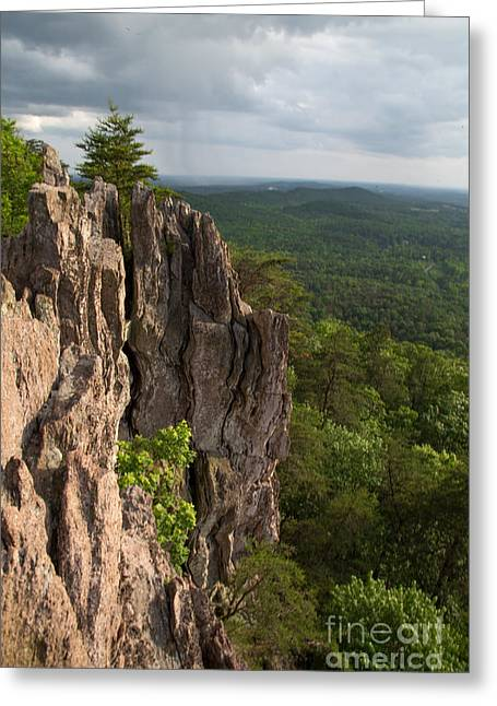 Cliffhanger Greeting Card by Andy Miller