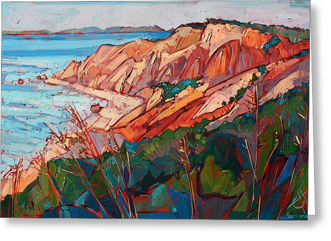 Erin Greeting Cards - Cliffs in Color Greeting Card by Erin Hanson