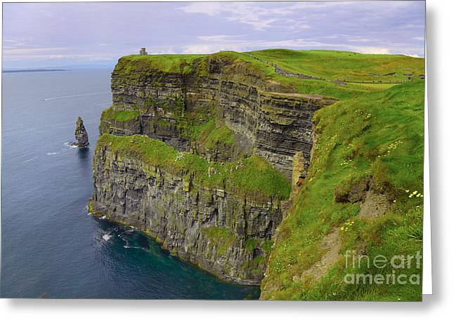 Cliffs Of Moher Greeting Cards - Cliffs of Moher Greeting Card by Gabriela Insuratelu
