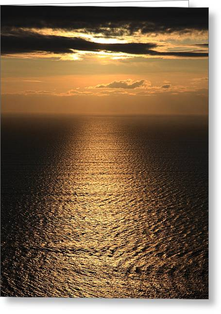 Cliffs Of Moher Sunset Co. Clare Ireland Greeting Card by Pierre Leclerc Photography