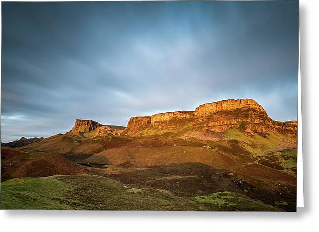 Cliffs Of Trotternish Greeting Card by Davorin Mance