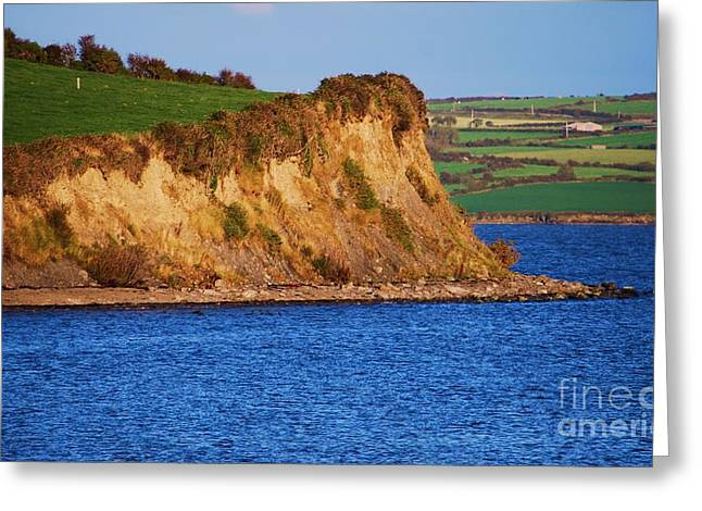 Landscape Framed Prints Greeting Cards - Cliffs On The Shannon Greeting Card by Poet