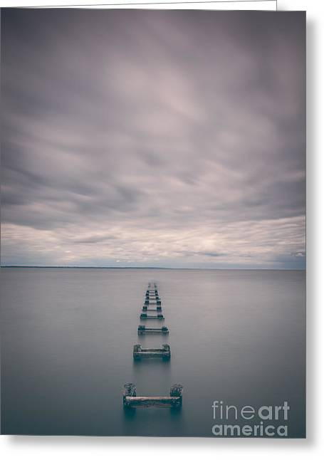 Best Ocean Photography Greeting Cards - Cliffwood Sea Wall Vertical  Greeting Card by Michael Ver Sprill