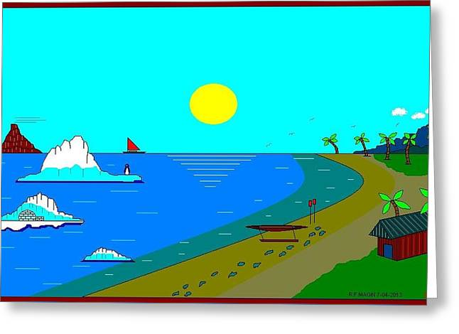 Etc. Paintings Greeting Cards - Climate Change. Greeting Card by Richard Magin