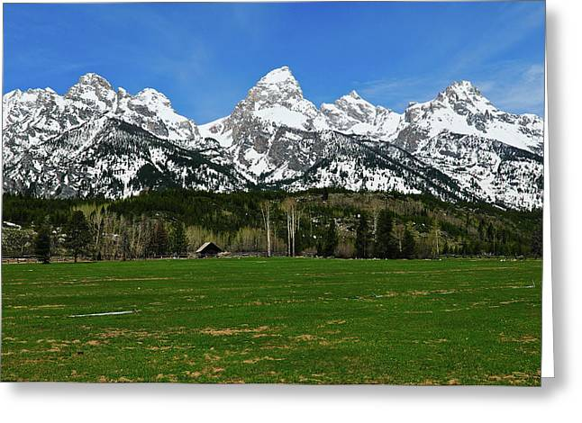 Climbers Ranch In Spring Greeting Card by Greg Norrell