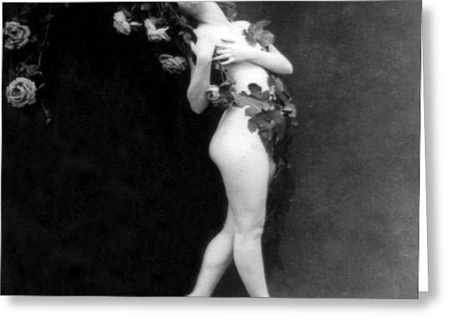 Racy Greeting Cards - Clinging Vine, Nude Model, 1927 Greeting Card by Science Source
