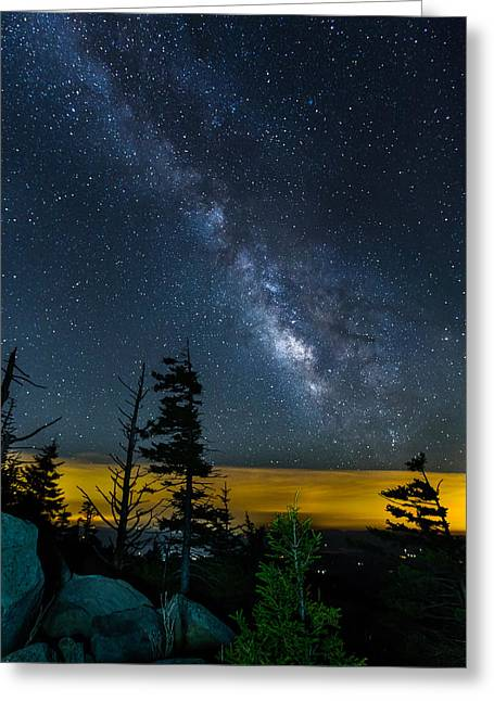 Gatlinburg Tennessee Greeting Cards - Clingmans Milky Way Greeting Card by Dave LoSapio