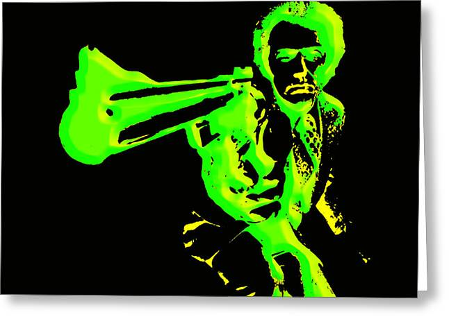 Harry Callahan Greeting Cards - Clint Eastwood 3g Greeting Card by Brian Reaves