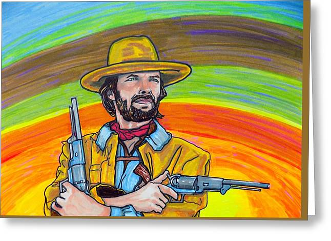Unforgiven Greeting Cards - Clint Eastwood Greeting Card by Mary Sperling
