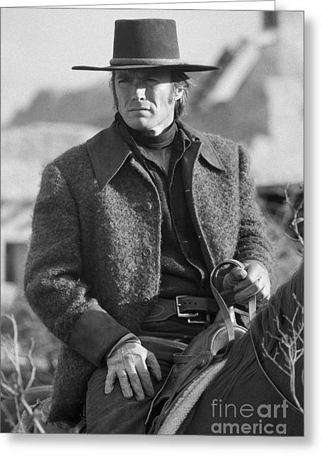 Clint Eastwood Greeting Card by Terry O'Neill