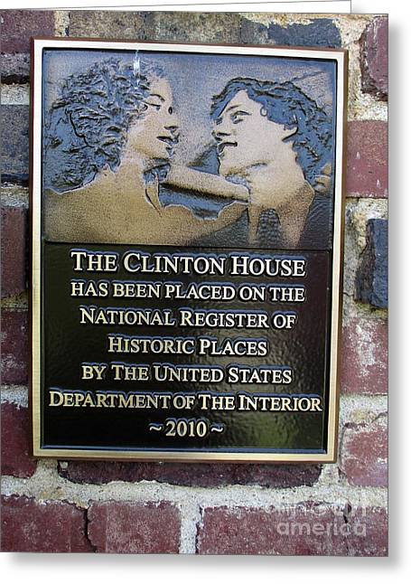 Clinton House Museum 2 Greeting Card by Randall Weidner