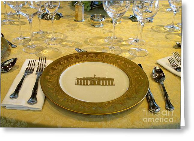 Clinton State Dinner 2 Greeting Card by Randall Weidner
