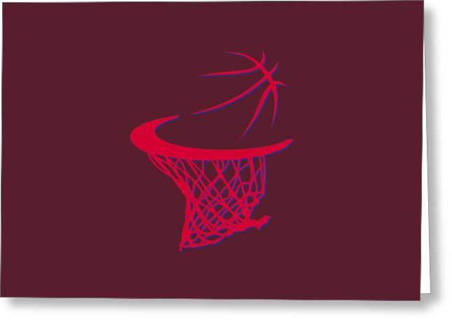 Clippers Basketball Hoop Greeting Card by Joe Hamilton