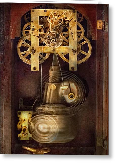 Time Together Greeting Cards - Clockmaker - The Mechanism  Greeting Card by Mike Savad