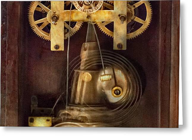 Clockmaker - The Mechanism  Greeting Card by Mike Savad