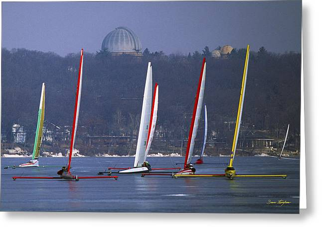 Close Encounters - Lake Geneva Wisconsin Greeting Card by Bruce Thompson