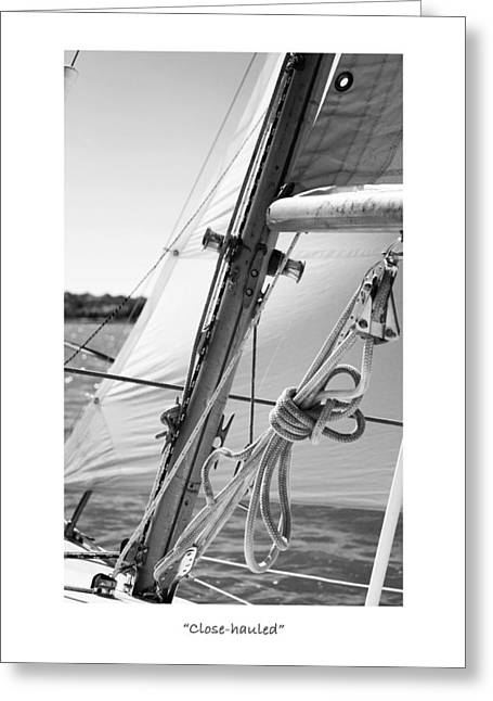 Masts Greeting Cards - Close-hauled II Greeting Card by Jeff Mize