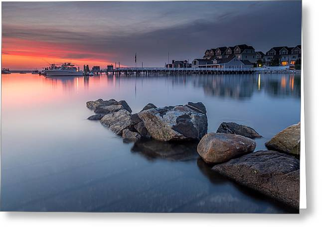 New England Ocean Greeting Cards - Close Of The Day Greeting Card by Jeremy Noyes