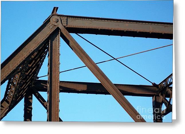 Close Up Bridge Greeting Card by Marsha Heiken