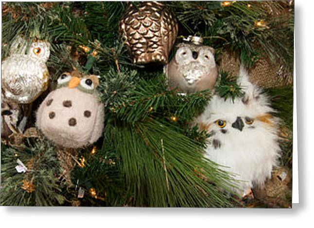 Owl Photography Greeting Cards - Close-up Of Owls Sculpture Greeting Card by Panoramic Images