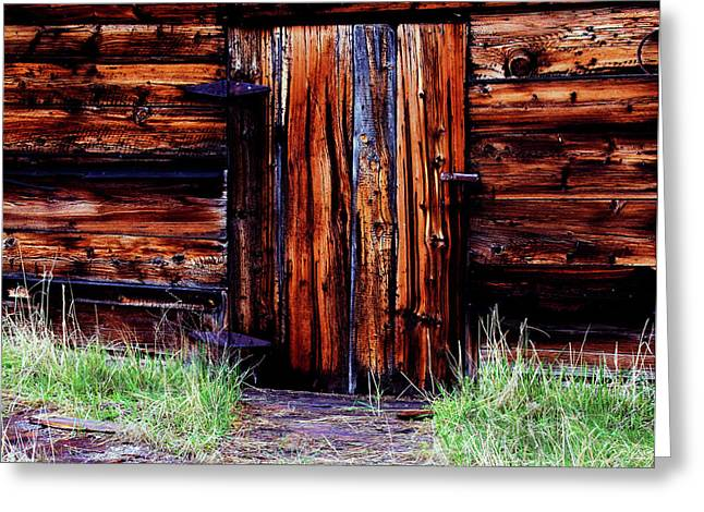 Log Cabin Digital Greeting Cards - Closed and Forgotten Greeting Card by Joseph Noonan
