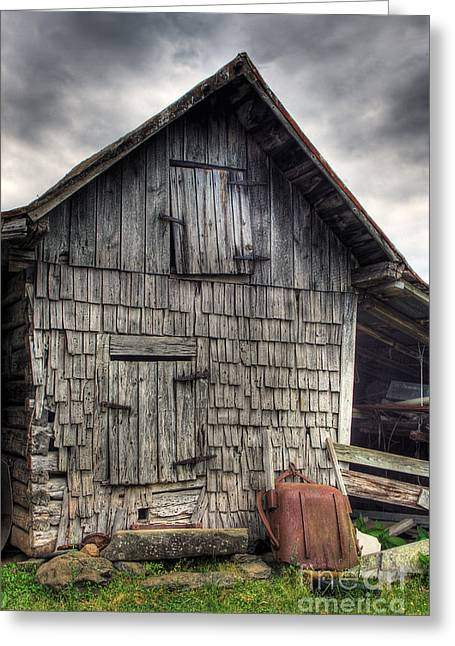 Old Barns Greeting Cards - Closed For Business Greeting Card by Pete Hellmann