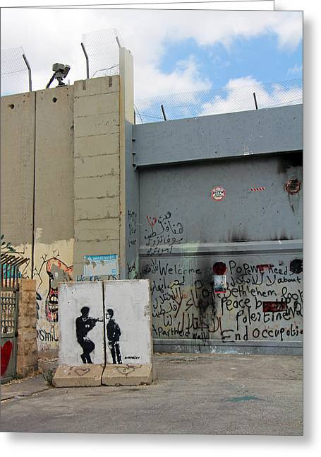 Closed Gates Greeting Card by Munir Alawi