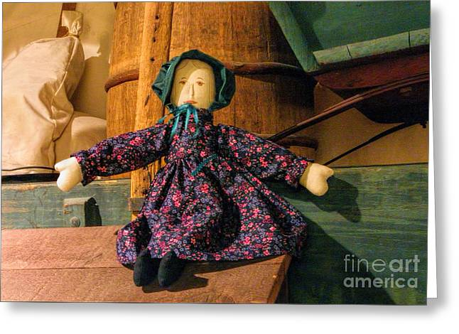 Cloth Greeting Cards - Cloth Doll Greeting Card by Linda Phelps