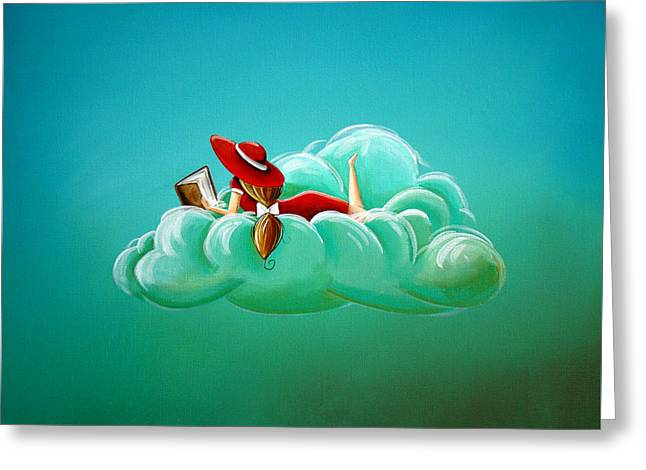 Imagination Greeting Cards - Cloud 9 Greeting Card by Cindy Thornton