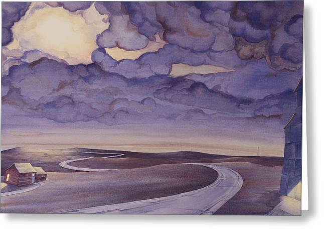 Great Paintings Greeting Cards - Cloud Break on the Northern Plains I Greeting Card by Scott Kirby