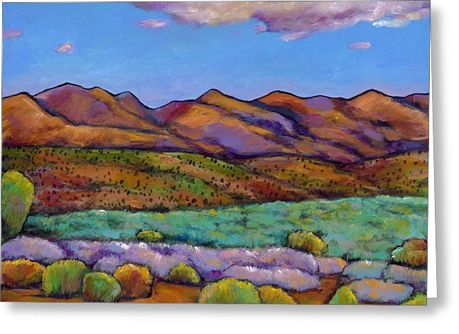 Santa Fe Desert Greeting Cards - Cloud Cover Greeting Card by Johnathan Harris