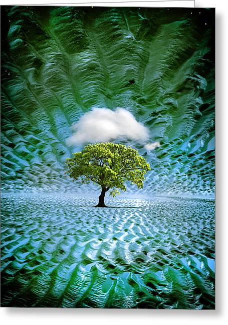 Cloud Cover Recurring Greeting Card by Mal Bray