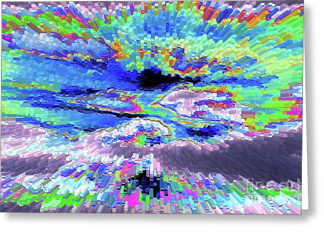 Abstract Digital Photographs Greeting Cards - Cloud Energy Greeting Card by Carol Groenen