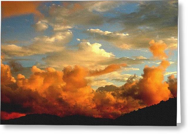 Abstract Digital Pastels Greeting Cards - Cloud Fantasy H b Greeting Card by Gert J Rheeders