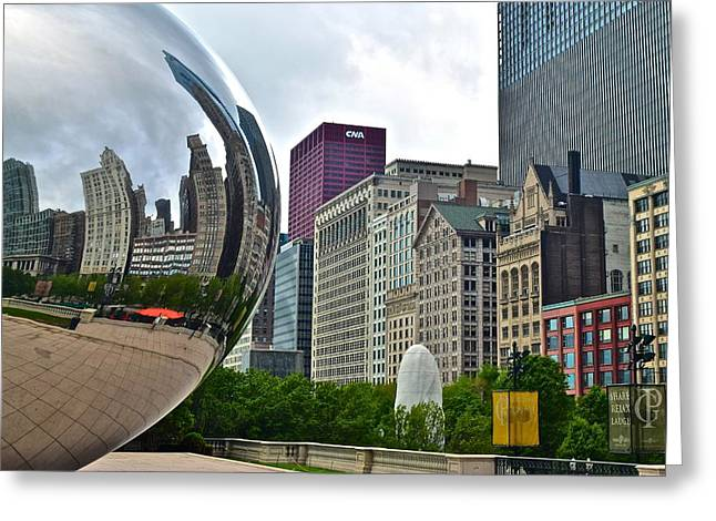 The Bean Greeting Cards - Cloud Gate Greeting Card by Frozen in Time Fine Art Photography
