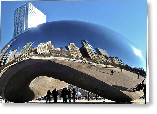 The Bean Greeting Cards - Cloud Gate in the Sun Greeting Card by Sheryl Thomas