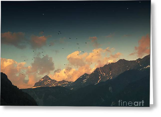 Mystical Landscape Greeting Cards - Cloud Glow Greeting Card by Dirk Wuestenhagen