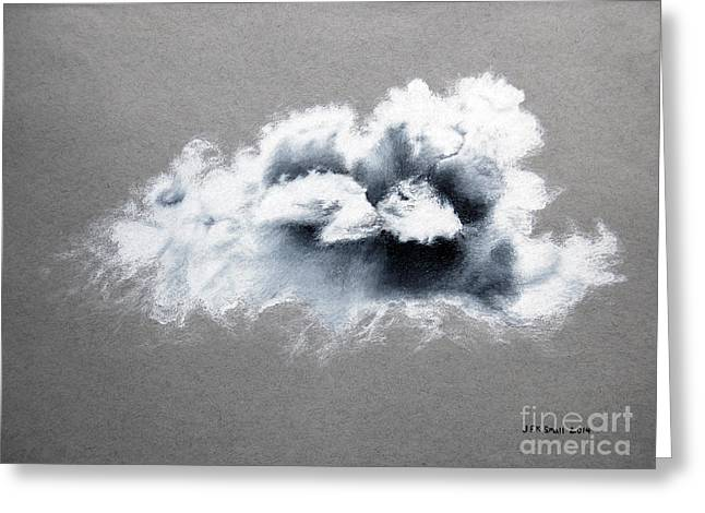 Grey Clouds Drawings Greeting Cards - Cloud Greeting Card by John Small