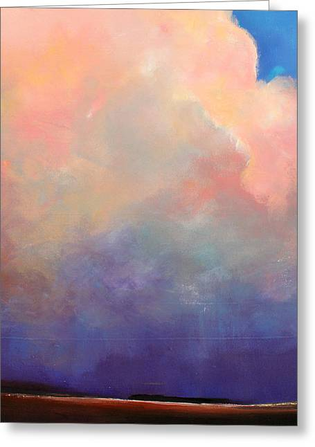 Thunderstorm Paintings Greeting Cards - Cloud Light Greeting Card by Toni Grote