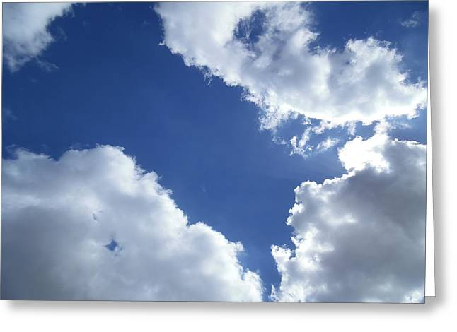 Cloud Patterns Greeting Card by Esther Newman-Cohen