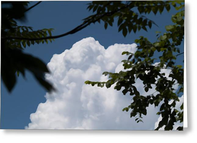 Duke Island Park Greeting Cards - Cloud Pillow Art Greeting Card by Warren M Gray