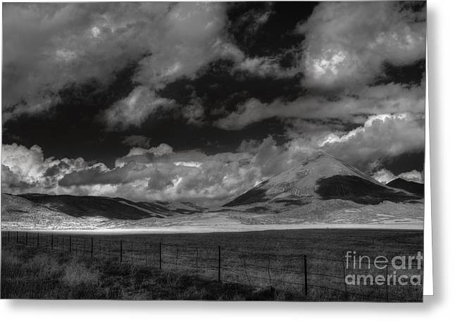 Peaceful Scene Greeting Cards - Cloud Shadows in the Sangres  Greeting Card by William Fields