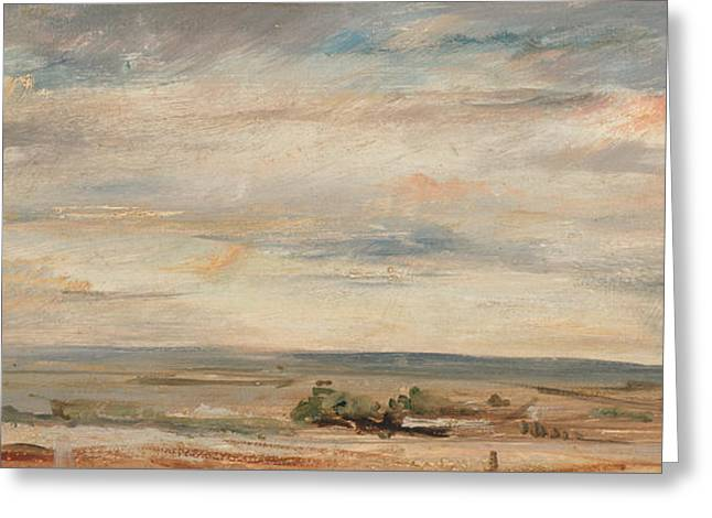 Cloud Study Early Morning Greeting Card by John Constable