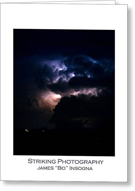 Lightning Fine Art Posters Greeting Cards - Cloud to Cloud Lightning Photography Poster Greeting Card by James BO  Insogna
